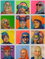 Technicolor Muslimah (2011) by Saba Barnard, series challenging stereotypes of US Muslim women