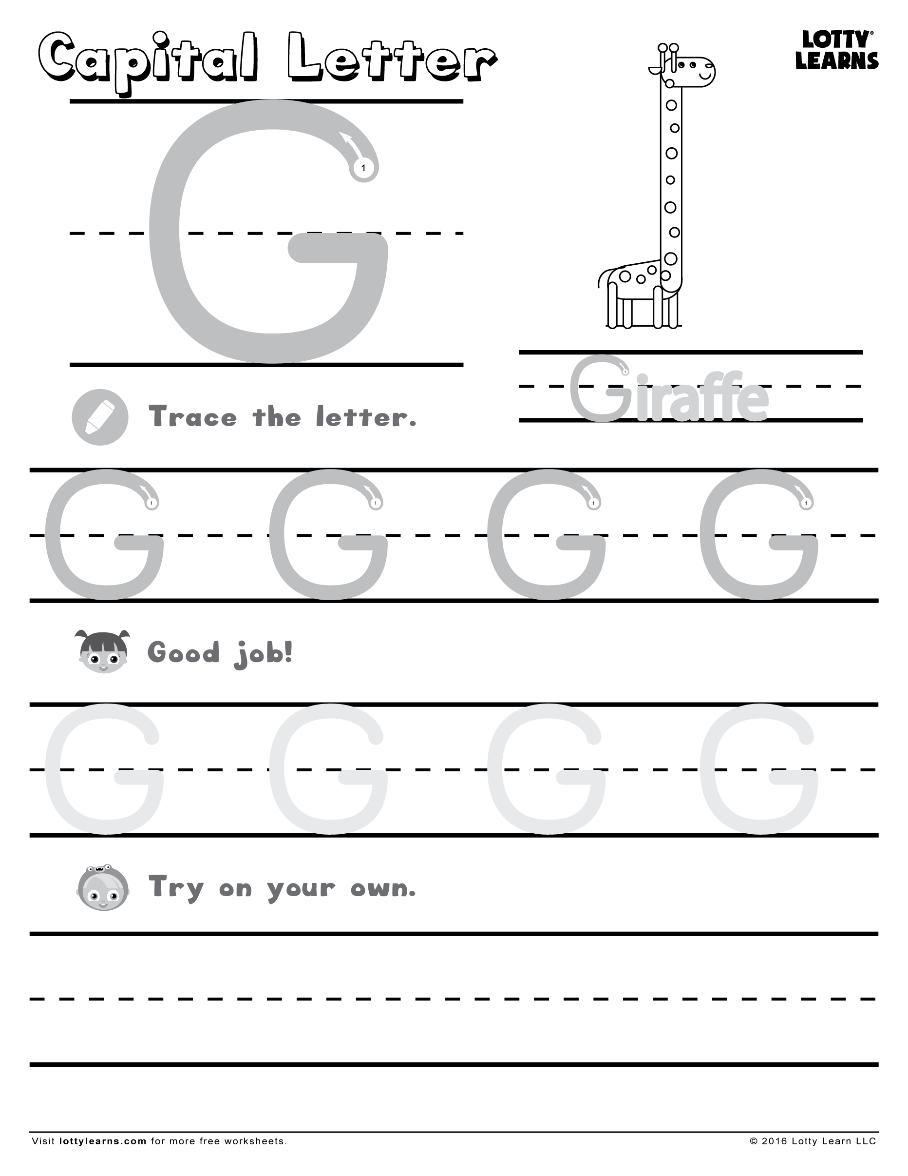 Capital Letter G
