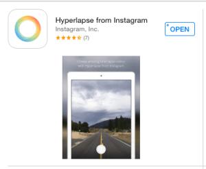 Instagram's Hyperlapse App