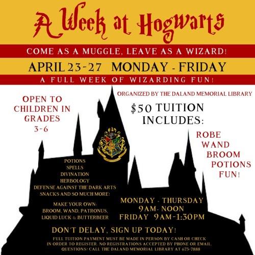 A Week at Hogwards - IG Size