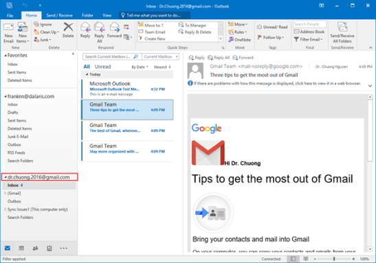 How to configure Gmail in outlook 2016, setup Gmail in outlook 2016
