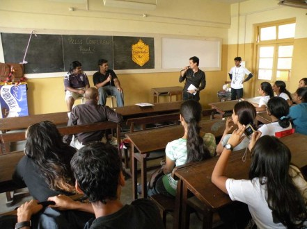 sies 5. SIES - Participants of the inter-collegiate BMM event at SIES College put up their best to answer Dale's questions.