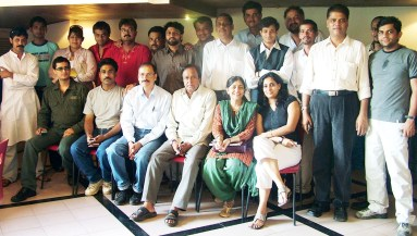 PROs all... Dale Bhagwagar (sitting extreme left) along with most top of the line publicists of Bollywood.