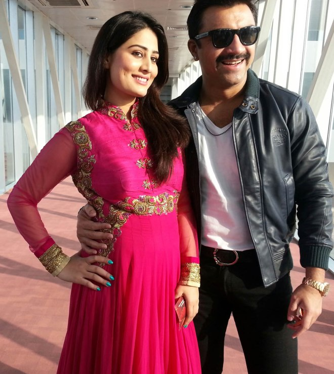 Arjumman Mughal and Ajaz Khan on the sets of Ya Rabm - Pic 1