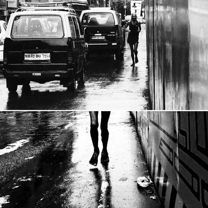 Samir Singh running in Mumbai. - Collage 2