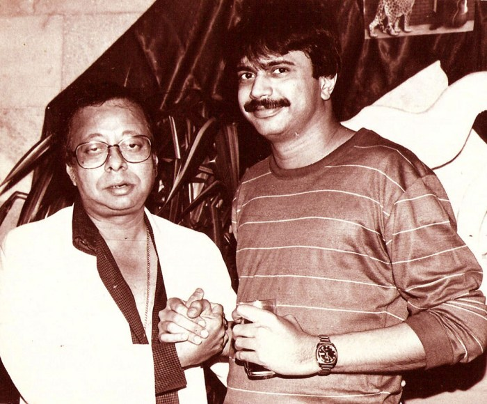 A file pic of author Chaitanya Padukone with R.D.Burman.