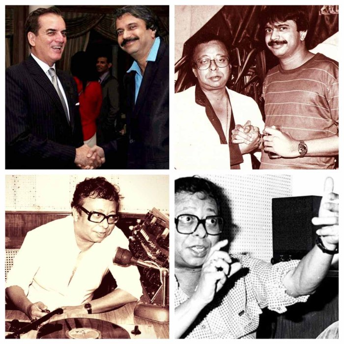 (Clockwise) 1. Ambassador of Brazil, Tovar da Silva Nunes with Chaitanya Padukone, 2. Chaitanya Padukone with R.D.Burman, 4. and 5. R.D.Burman.
