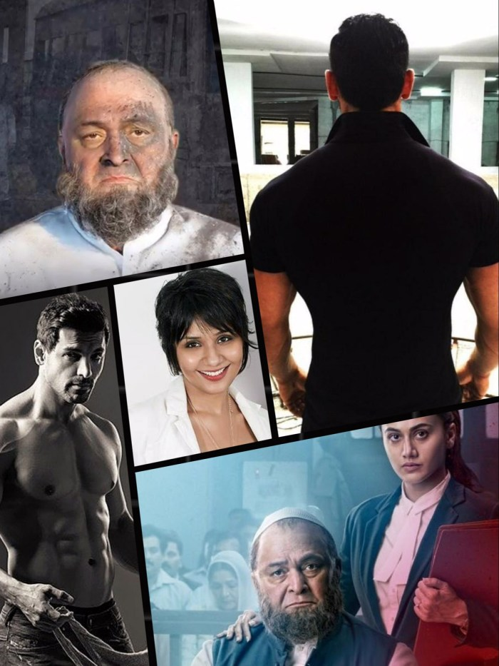 Collage -- Preetisheel Singh (center) along with pics from Mulk and RAW. Images courtesy - Internet