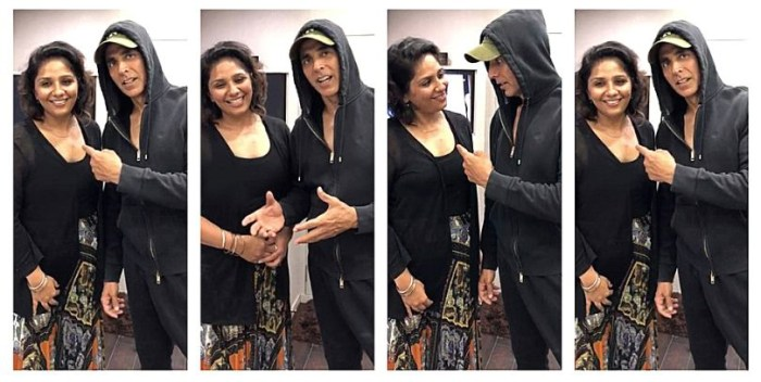 Akshay Kumar praising Preetisheel Singh - collage