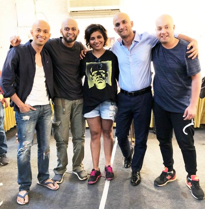 Preetisheel Singh on the sets of Chhichhore 1