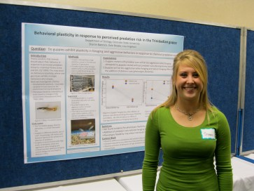 Sharon Bannick presents her research at the Front Range Student Ecology Symposium