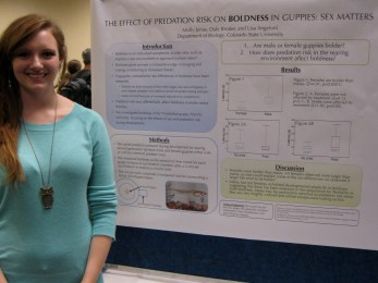 Molly Jonas presents her poster at FRSES 2013