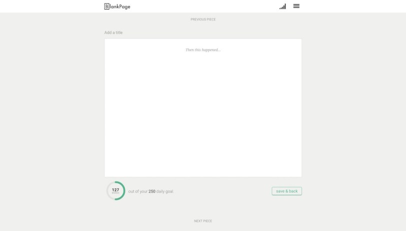 Image of blank document in BlankPage