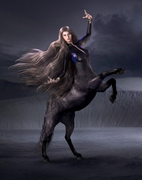 female centaur with scales on torso