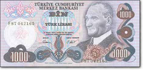 النسخة الرابعة من فئة ألف ليرة تركية
