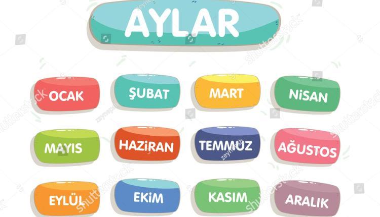 الأشهر باللغة التركية