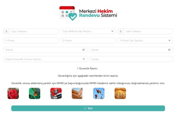 اكمال بيانات التسجيل في موقع حجز موعد في المشافي التركية