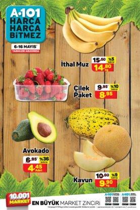 تخفيضات ماركت يوز بير A101 على الفواكه والأفوكادو والبطيخ.