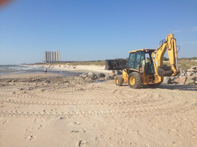 They do beach erosion repair as needed.