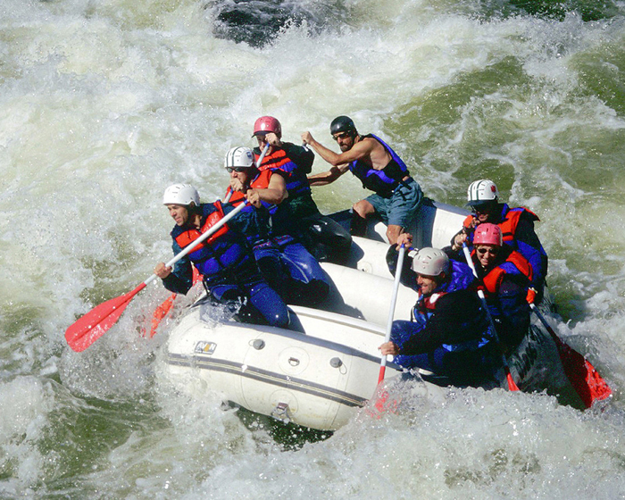 West Virginia's Gauley River Pillow Rock Rapid. Copyright Donnelle Oxley