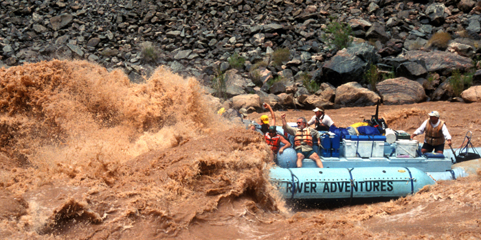 Colorado River in the Grand Canyon, Hermit Rapid. Copyright Donnelle Oxley