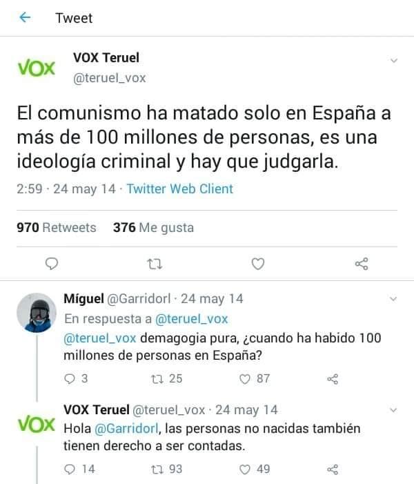 VOX Teruel ¡OJO!