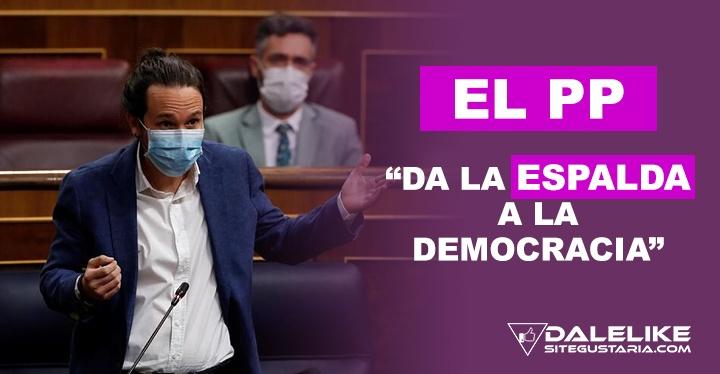 Pablo Iglesias: El PP da la espalda a la democracia y a la Constitución para protegerse de sus corruptelas