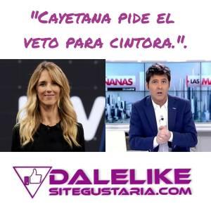 Cayetana Álvarez de Toledo pide el veto para Jesús Cintora en la televisión pública.
