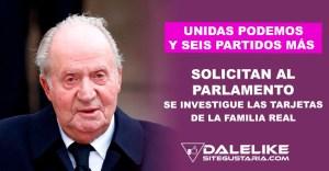Unidas Podemos y seis partidos más solicitan nuevamente iniciar investigación sobre tarjetas black de Juan Carlos I