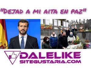 El hijo de un asesinado por ETA al PP: ¡Dejad a mi aita en paz!