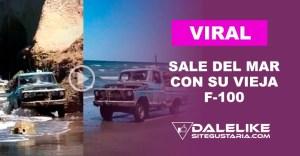 Fotos y video: Lo graban cuando salía del mar con su vieja camioneta y Ford decide premiarlo