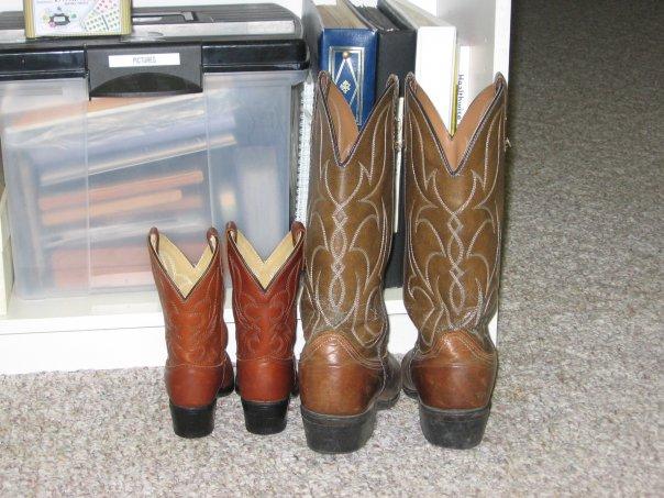 Jayden's & Justin's boots