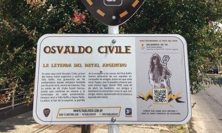 Tres de Febrero brinda homenaje a Osvaldo Civile