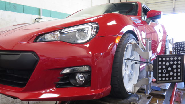Red BRZ lowered on ST coilovers and add a set of white Enkei wheels looks awesome!!!