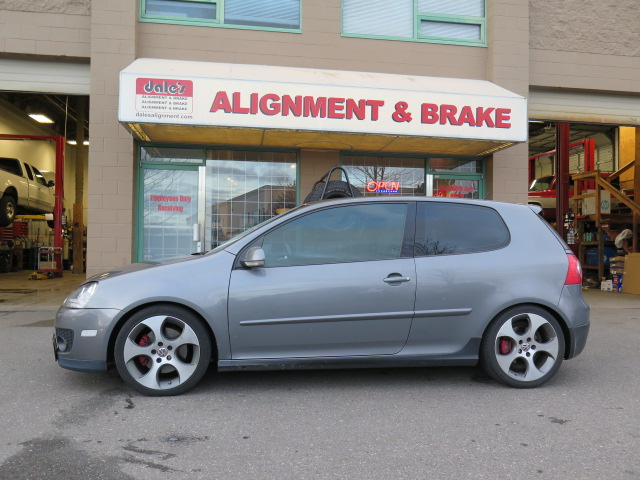 Mk 5 Golf gets new suspension, Koni shock and H&R springs