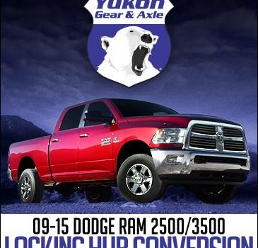 Yukon Gear and Axle Spin Free Locking Hub Conversion Kit: 2009+ Dodge Ram 2500/3500