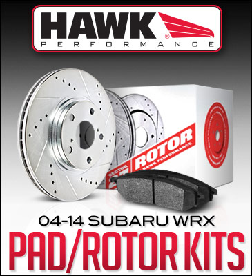 Hawk Performance Sector 27 Rotor and Pad Kits : Subaru WRX