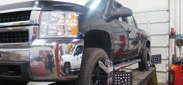 2010 Chev Silverado in for a TRUXXX Level off kit at Dales Auto Service