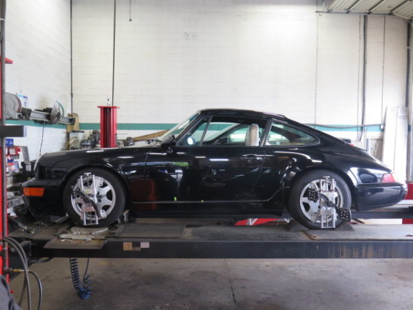 Porsche 911(964) in for Bilstein B16 Coilovers at Dales Auto Service