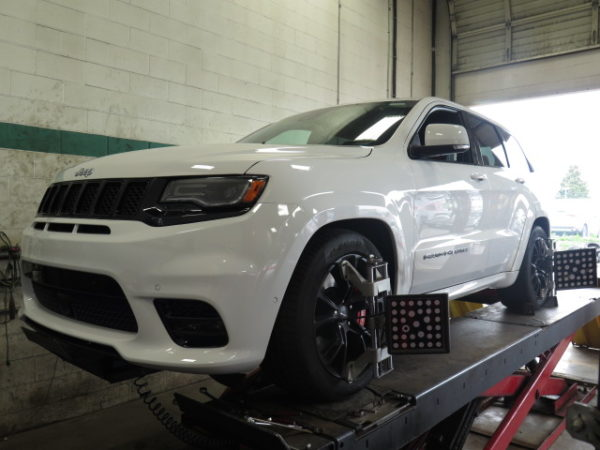 Jeep SRT 8 in for Eibach Coilsprings at Dales Auto Service