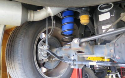 Late Model Dodge Ram 1500 having a set of Coil-Rite Airbags Installed