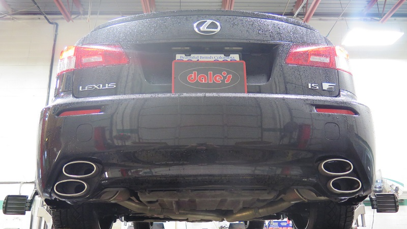 Lexus ISF in for a wheel alignment (1)