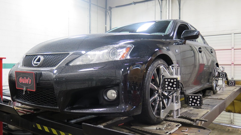 Lexus ISF in for a 4 Wheel Alignment Set-up