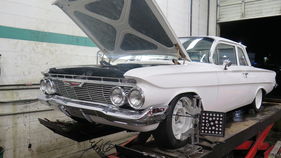 Chev in for a wheel alignment (2)