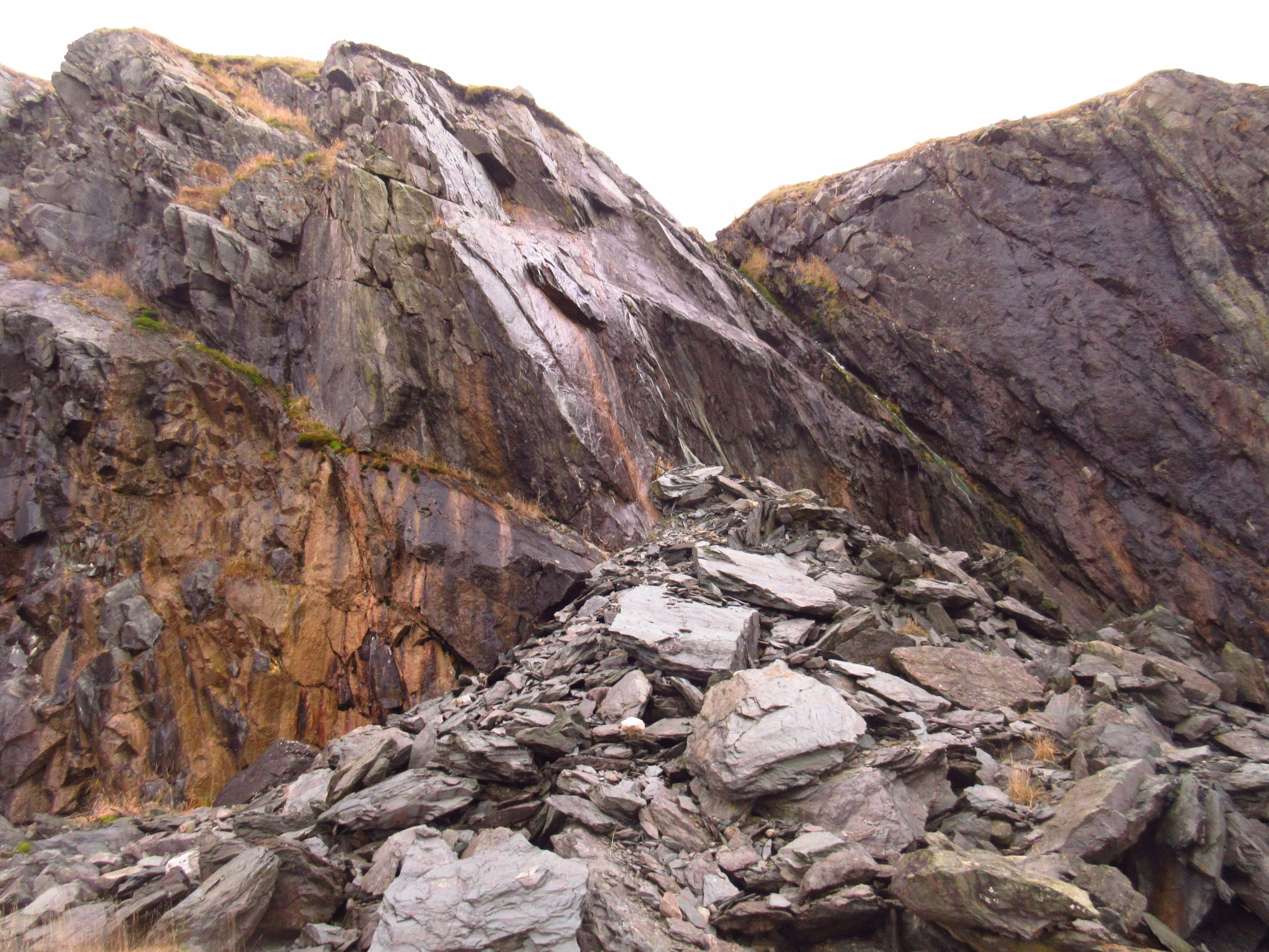 The ancient basement exposed at the old Ingleton 'Granite' Quarry with greywackes and slates dating back 480 million years. Stephen Oldfield