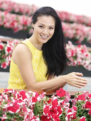 Glamorous photos of actress Grace Huang with a horse at Randwick Racecourse in honour of Magic Millions on the Gold Coast for the cover of the Gold Coast BulletinÕs weekend magazine, Gold Coast Eye. Photo: Bob Barker.