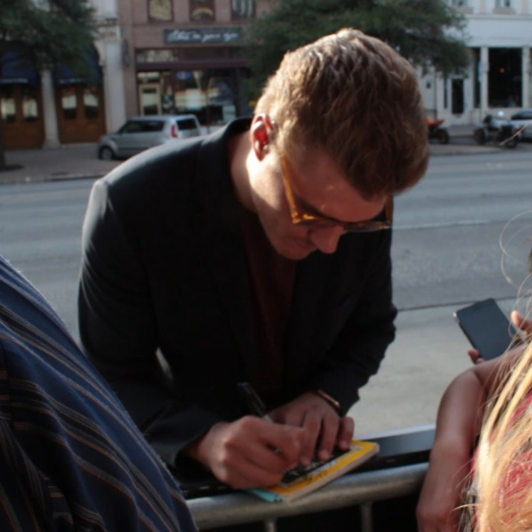 Chris Zylka was pretty impressed we had a National Geographic with us.