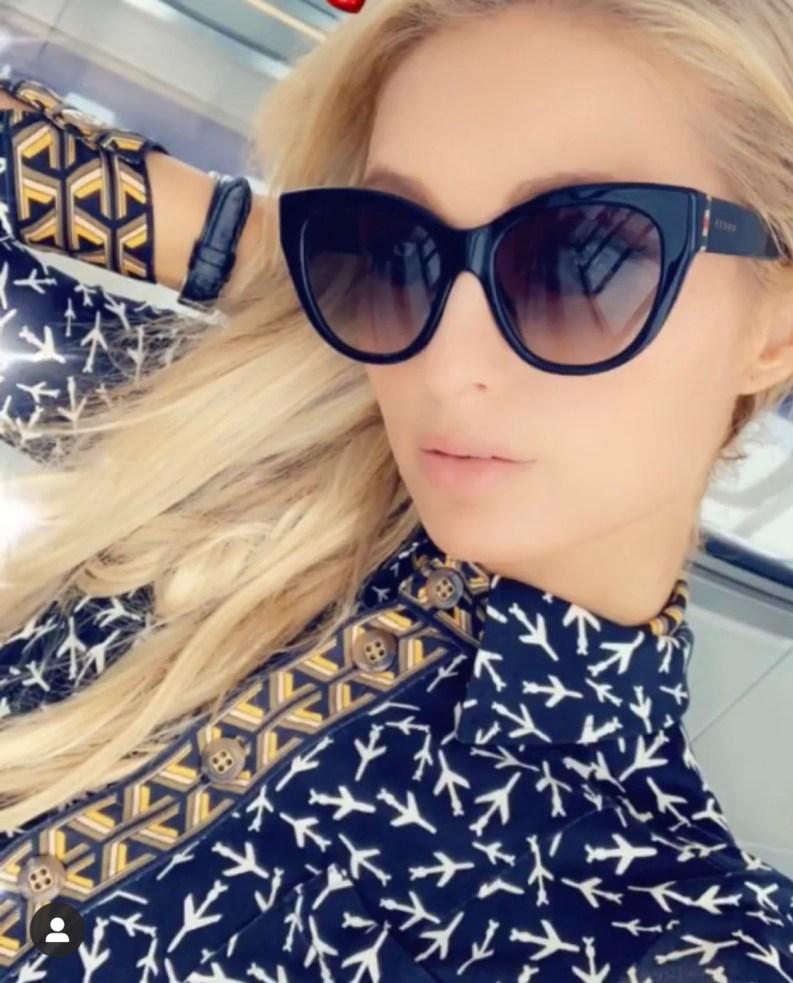 Photo of Paris Hilton in sunglasses