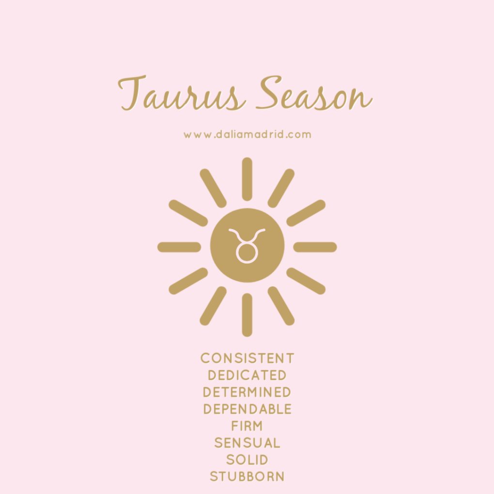 Taurus Season - Sun in Taurus