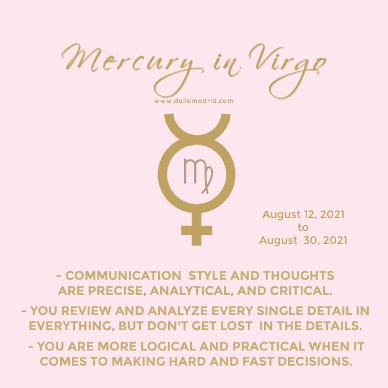 Mercuryin Virgo.